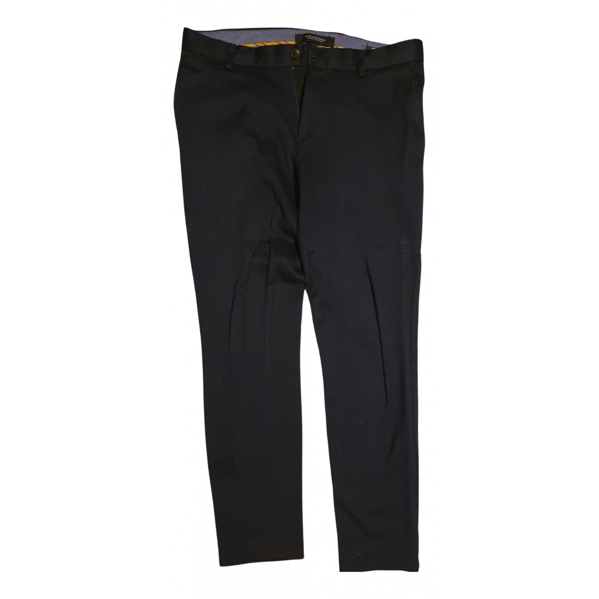 Scotch & Soda \N Black Cotton Trousers for Men 30 UK - US