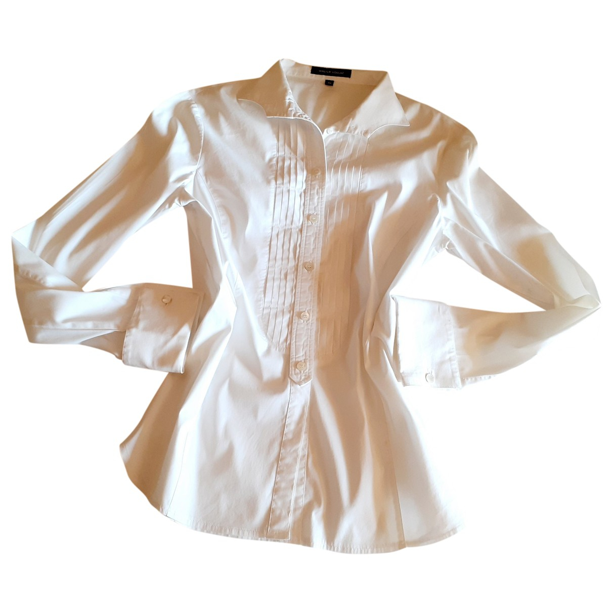 Non Signé / Unsigned \N White Cotton  top for Women 44 IT