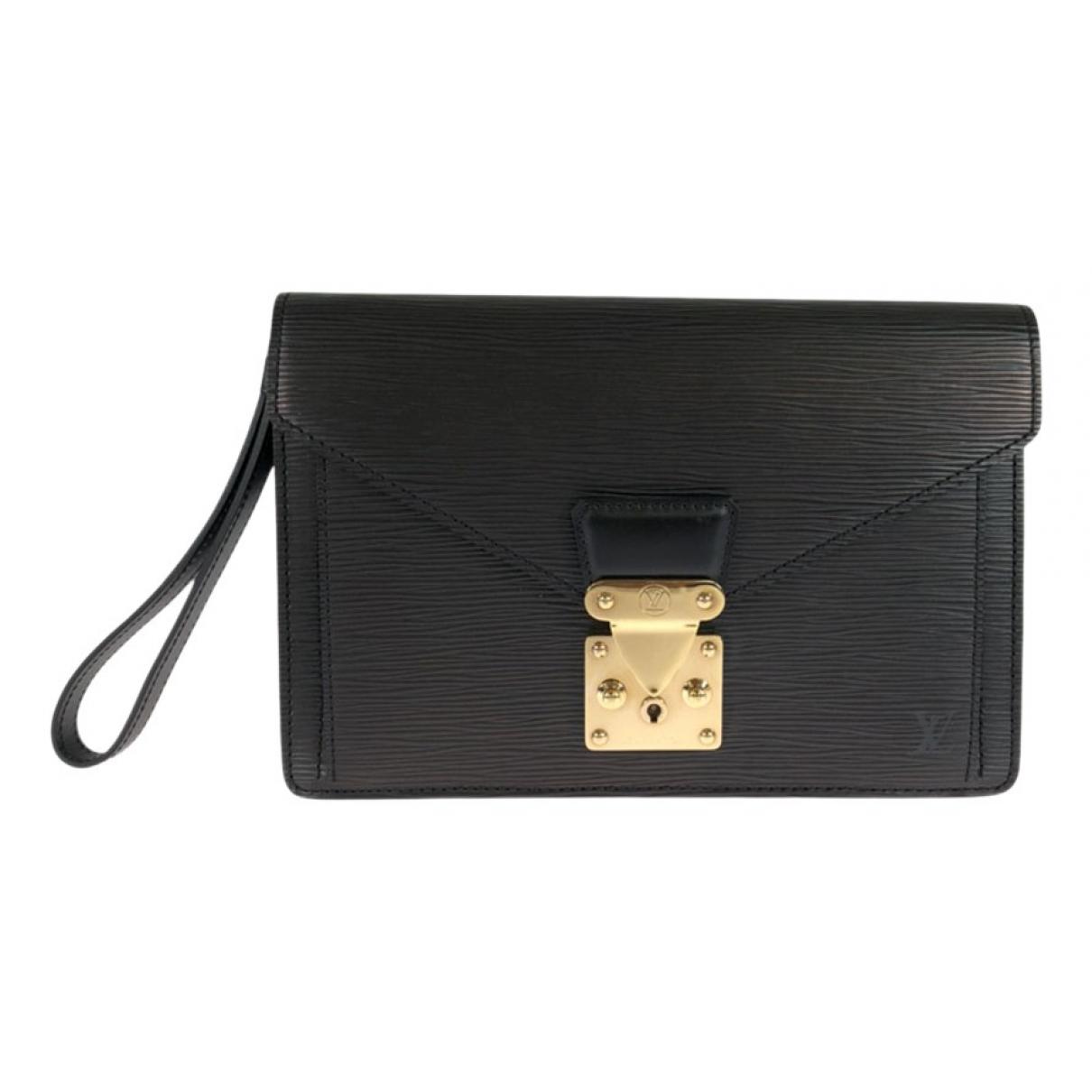 Louis Vuitton N Black Leather bag for Men N