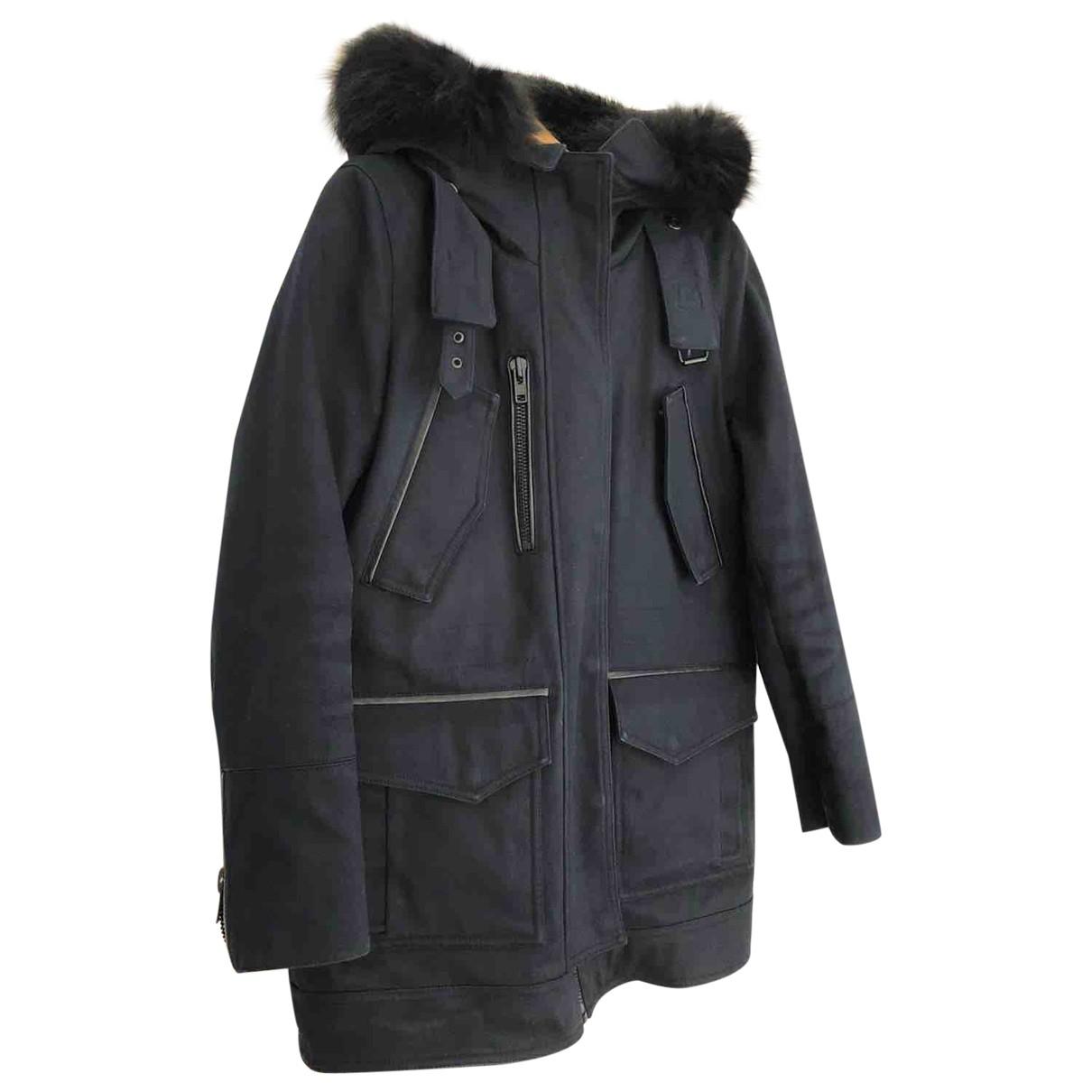 The Kooples - Manteau   pour femme en coton - marine