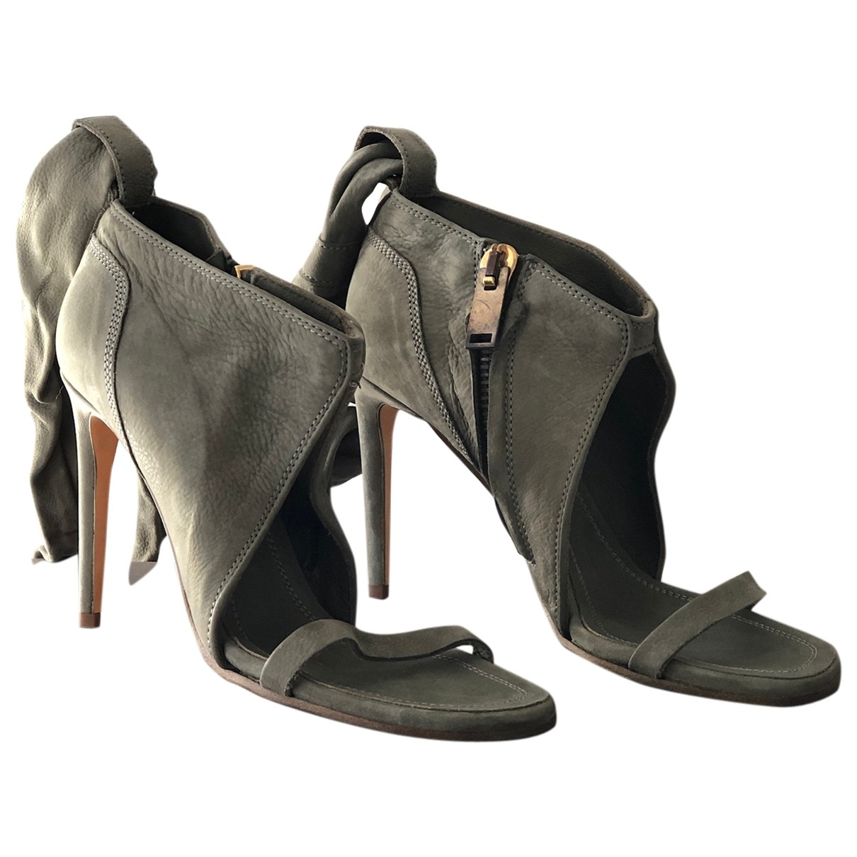 Rick Owens \N Khaki Leather Sandals for Women 37 EU