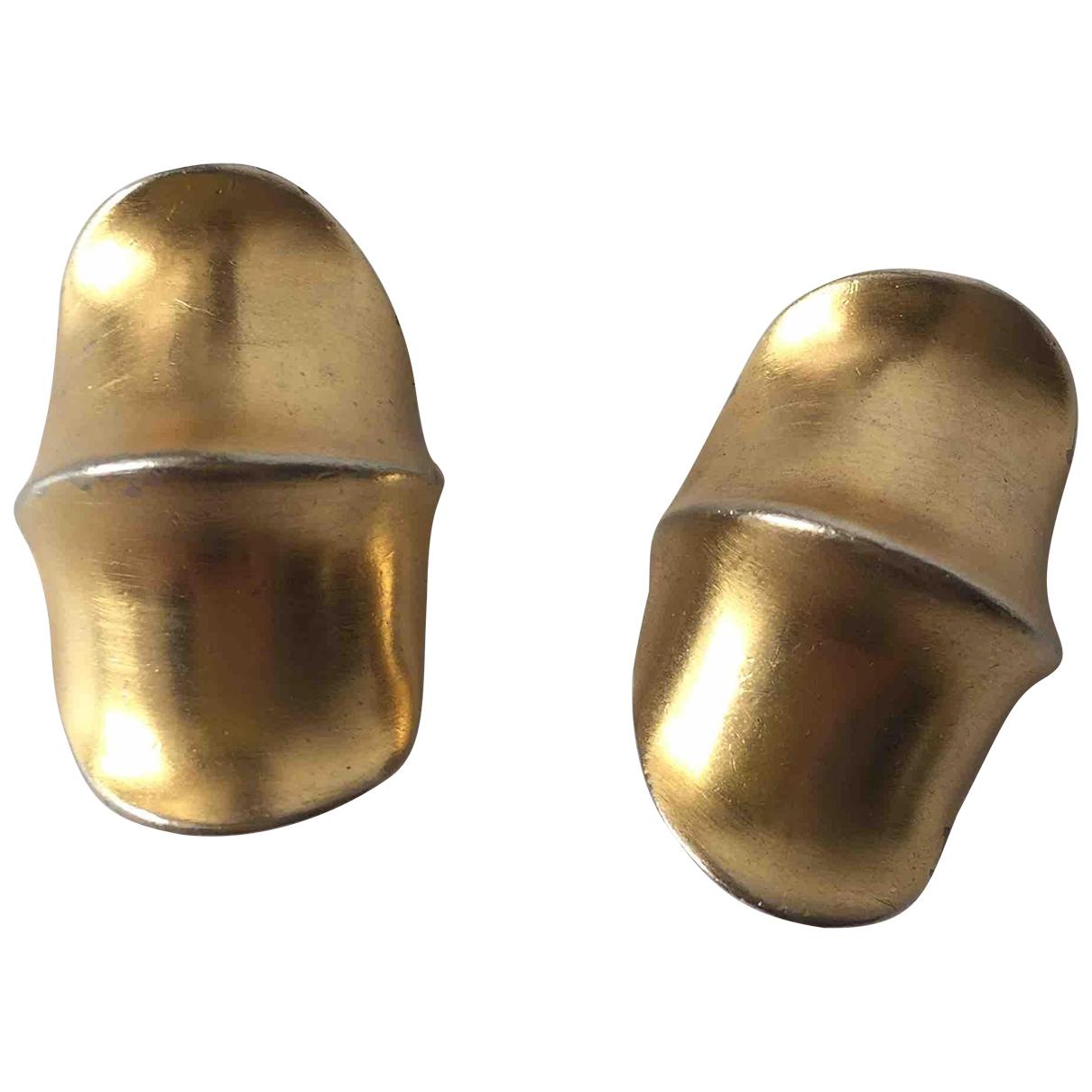 - Boucles doreilles Motifs Coquillages pour femme en acier - dore