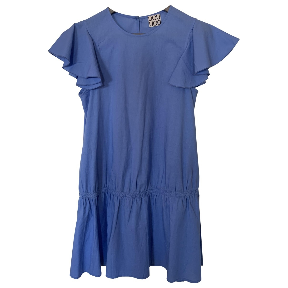 Douuod \N Blue Cotton - elasthane dress for Women 40 IT