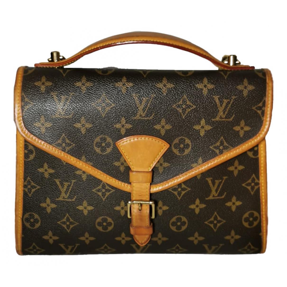 Louis Vuitton - Sac a main Bel Air pour femme en toile - marron