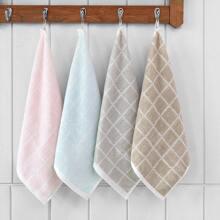 1pc Plaid Pattern Hand Towel