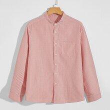 Hemd mit Taschen Flicken und Streifen