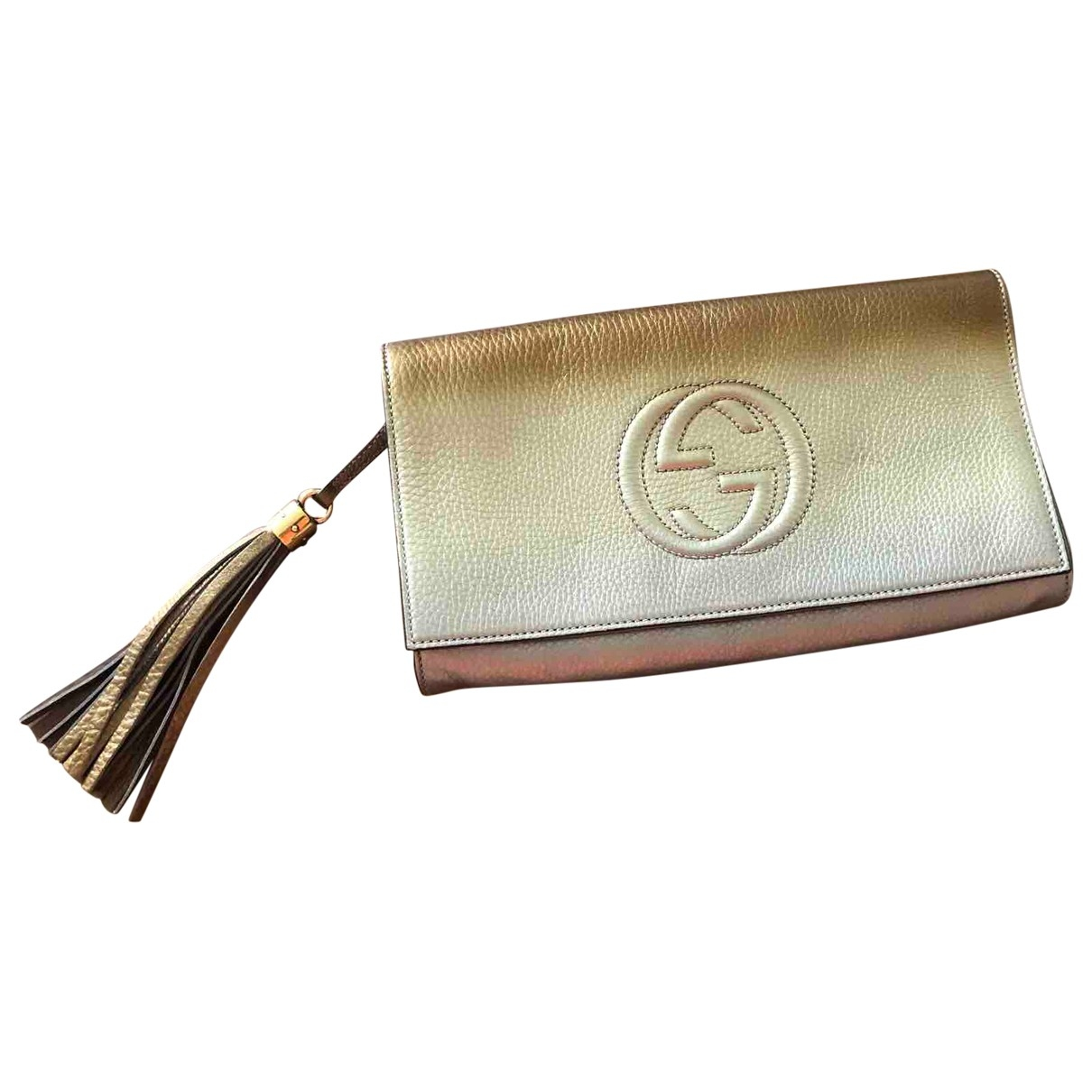 Gucci Soho Gold Leather Clutch bag for Women \N