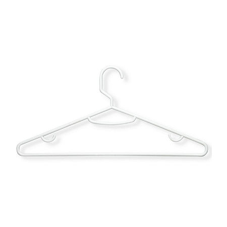 Honey-Can-Do 60 Pack Plastic Hangers, One Size , White