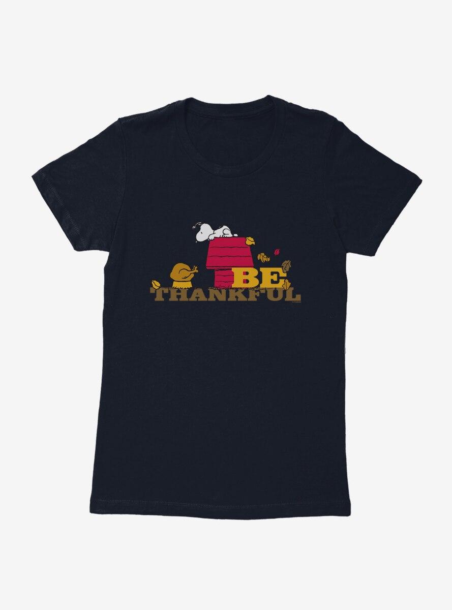 Peanuts Thanksgiving Be Thankful Womens T-Shirt