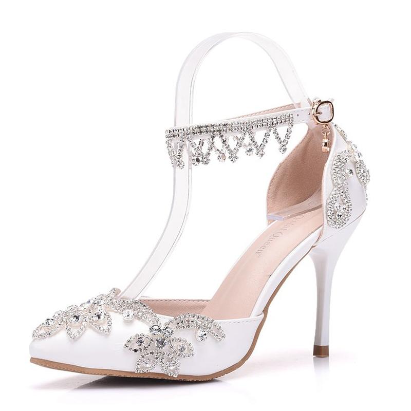 Ericdress Rhinestone Low-Cut Stiletto Heel Wedding Shoes with Buckle