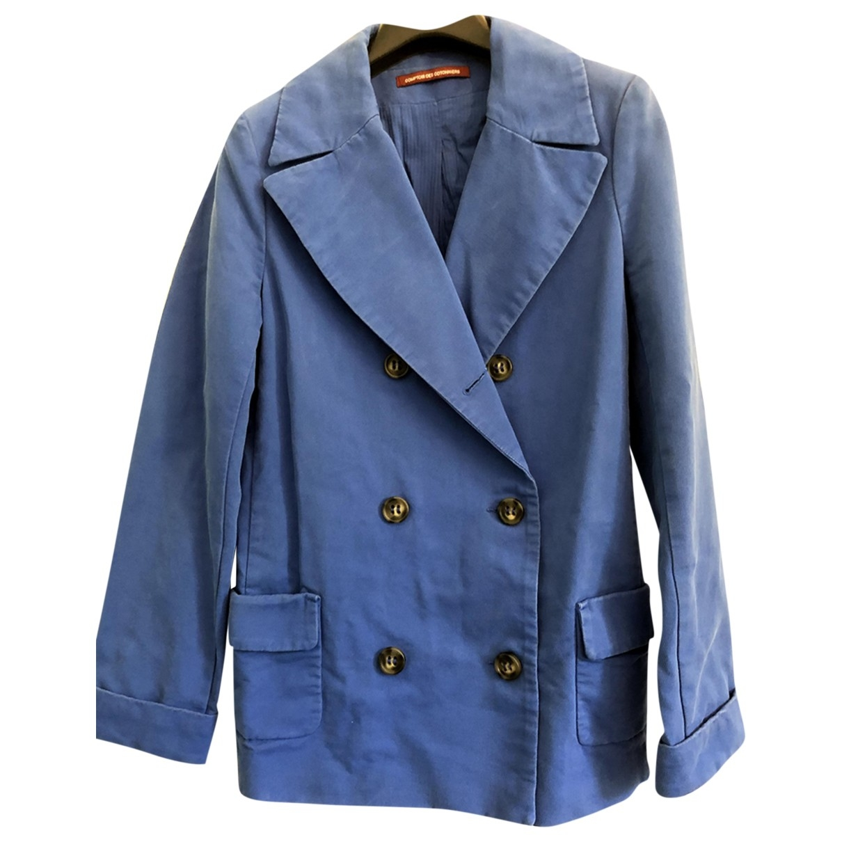 Comptoir Des Cotonniers \N Blue Cotton Trench coat for Women 40 FR