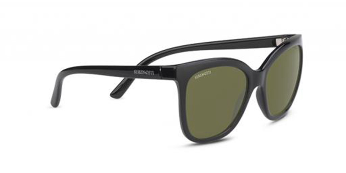 Serengeti Agata 8971 Men's Sunglasses Black Size 57