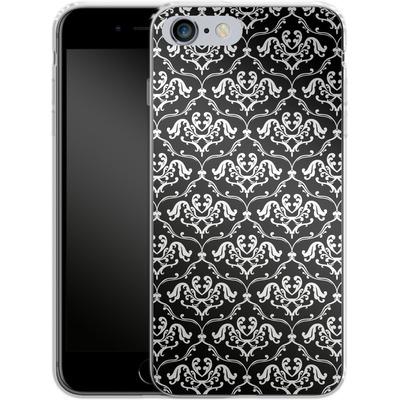 Apple iPhone 6s Plus Silikon Handyhuelle - Black French Lillies von caseable Designs