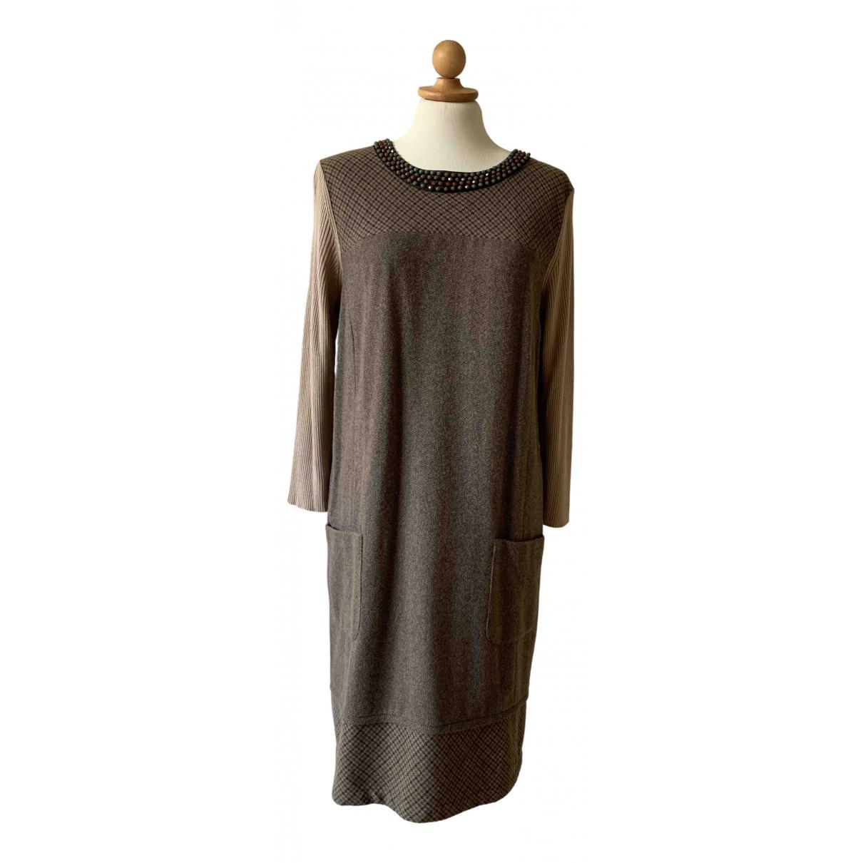 Max Mara Weekend \N Kleid in  Beige Wolle