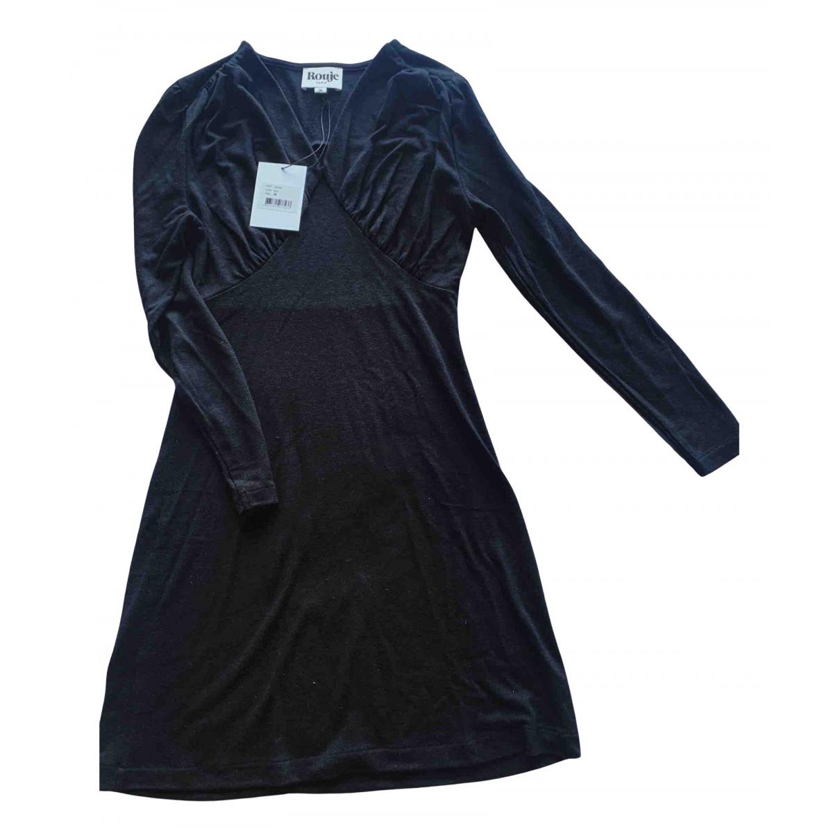 Rouje - Robe   pour femme en laine - noir