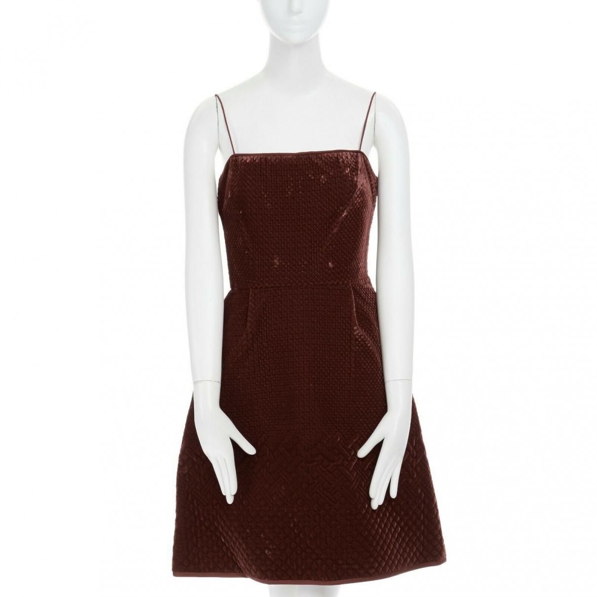 Valentino Garavani - Robe   pour femme en velours - marron