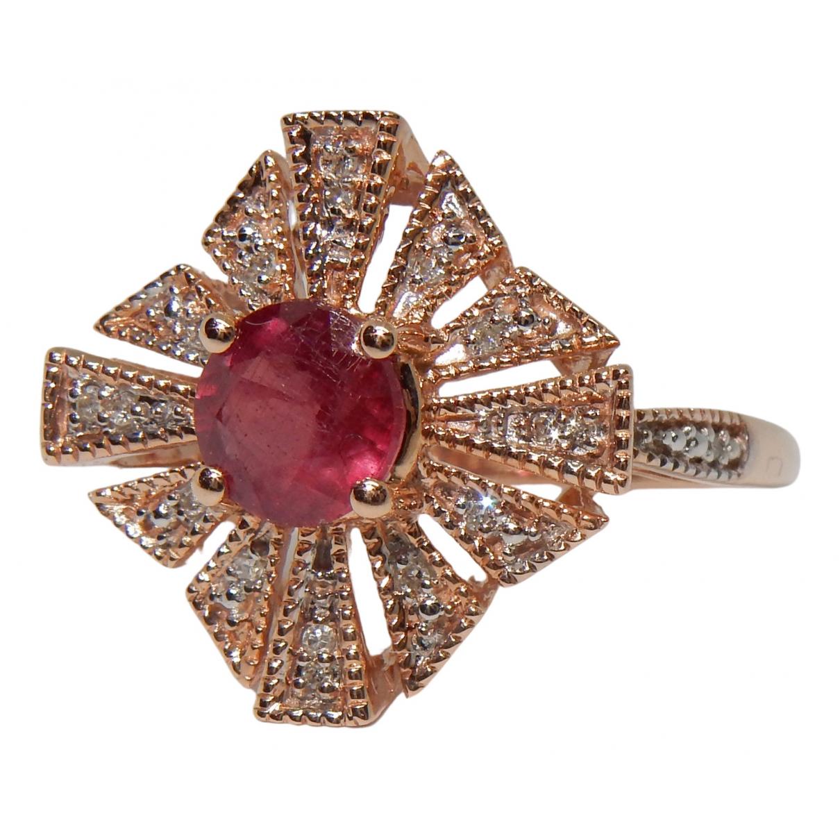 - Bague Rubis pour femme en or rose - rose