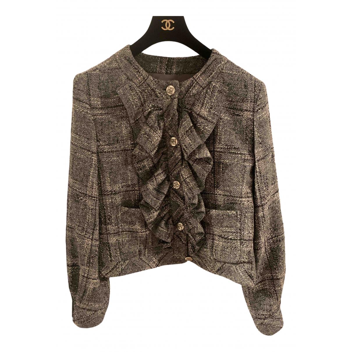 Chanel \N Grey Wool jacket for Women 44 FR