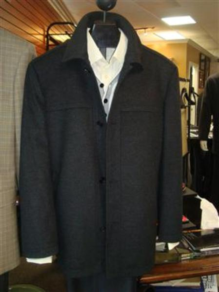 Mantoni SB Pea Coat in Wool and Cashmere