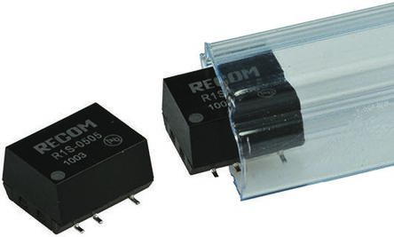 Recom R1S 1W Isolated DC-DC Converter Surface Mount, Voltage in 4.5 → 5.5 V dc, Voltage out 12V dc