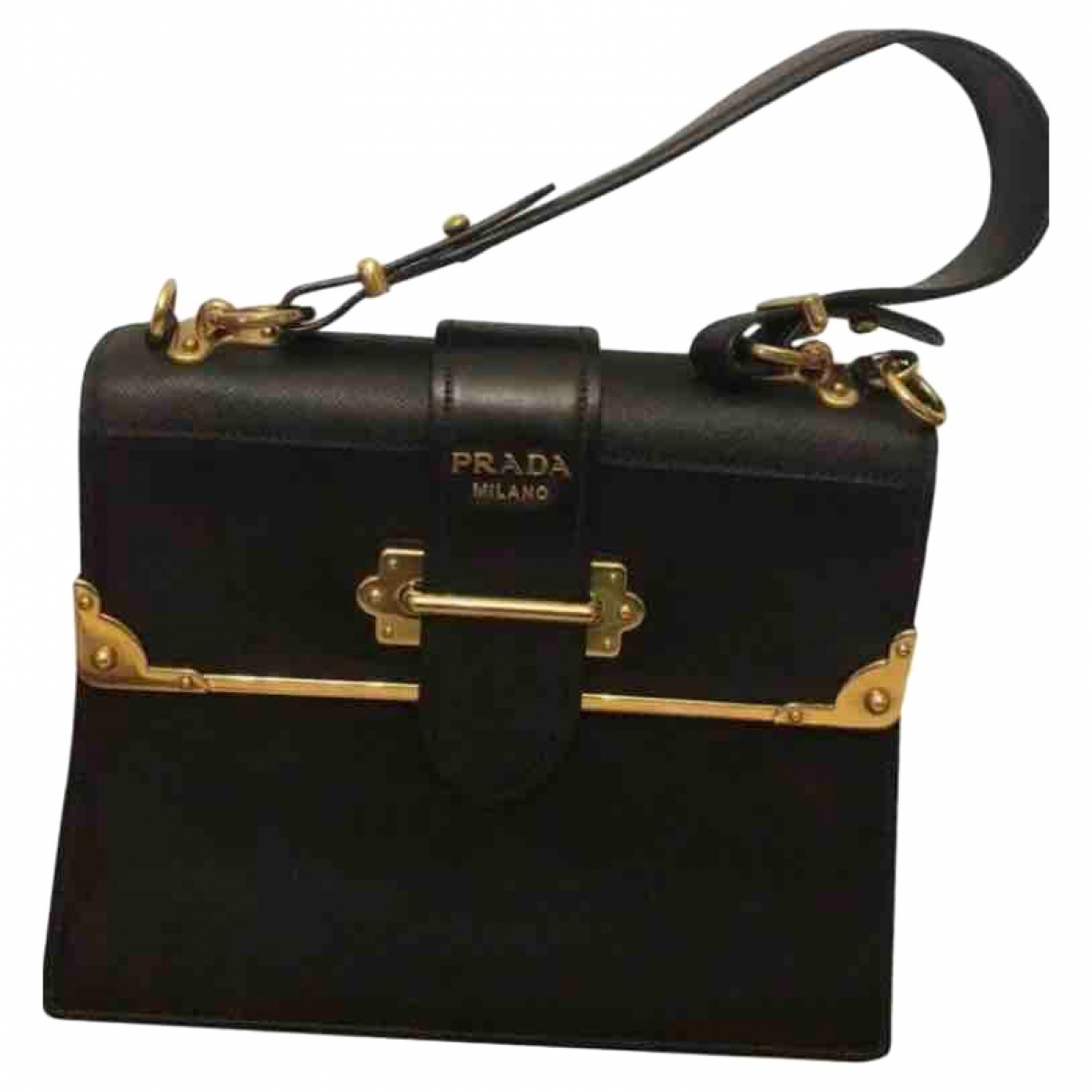 Prada Cahier Black Leather handbag for Women \N