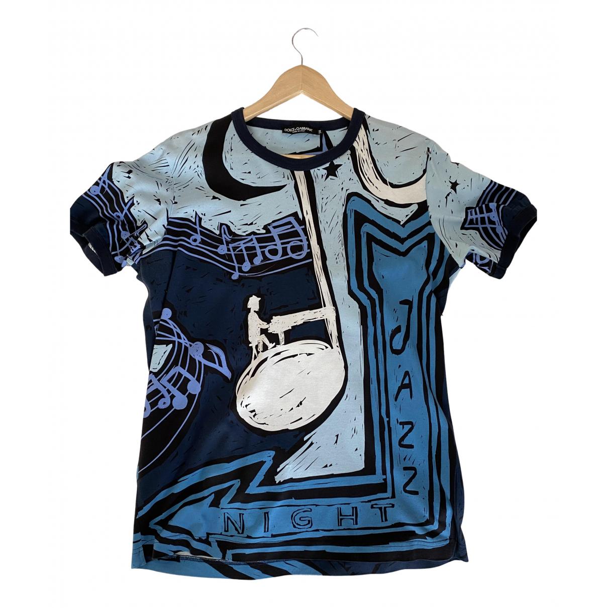 Dolce & Gabbana \N T-Shirts in  Blau Baumwolle