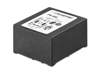 Schaffner , FN405 3A 250 V ac 400Hz RFI Filter, Pin