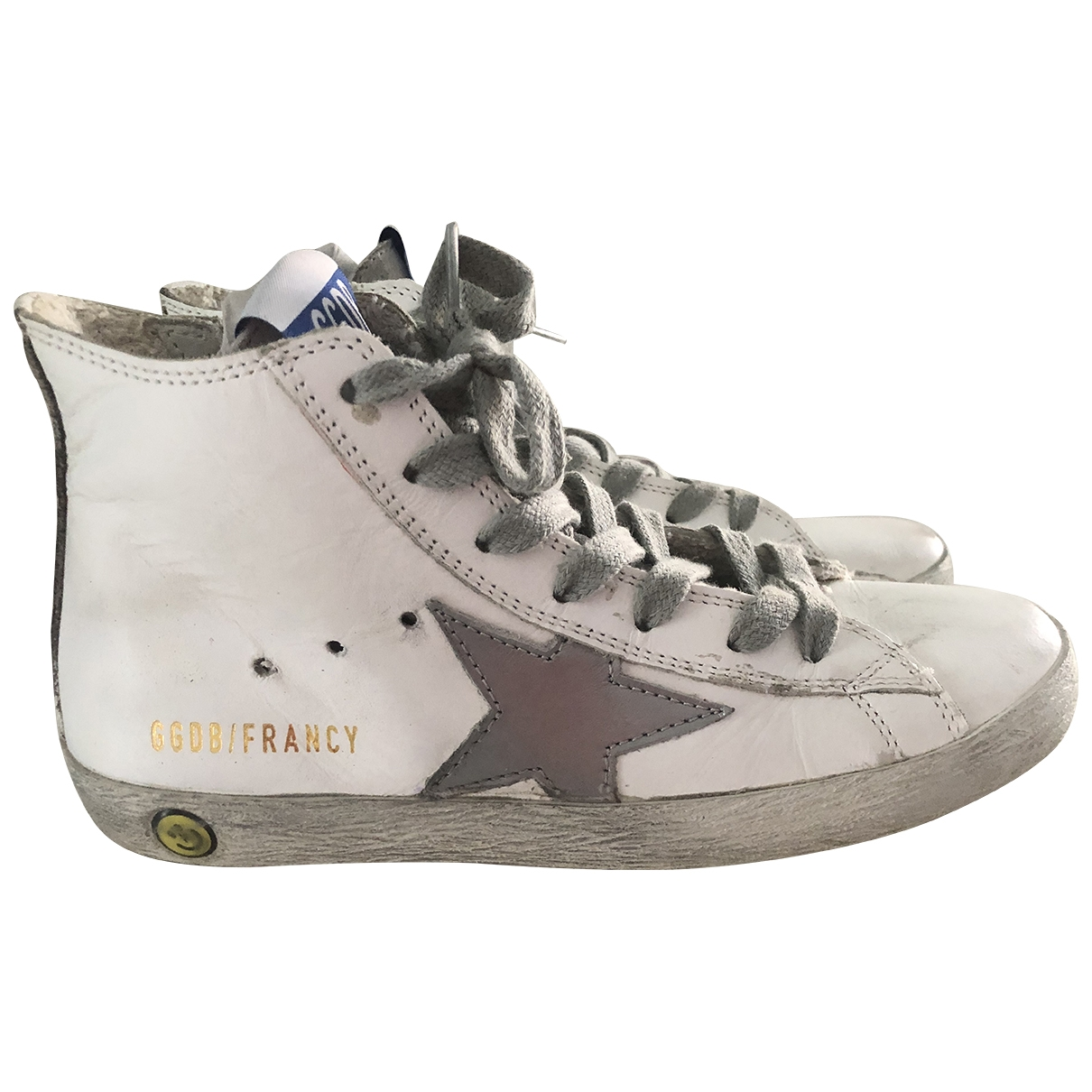 Golden Goose Francy White Leather Trainers for Kids 33 EU
