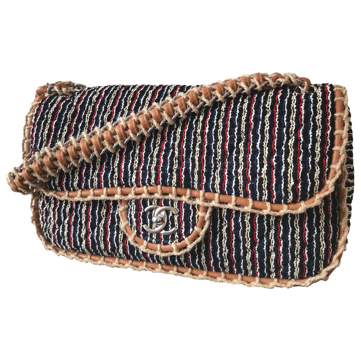 Chanel - Sac a main Timeless/Classique pour femme en tweed - multicolore