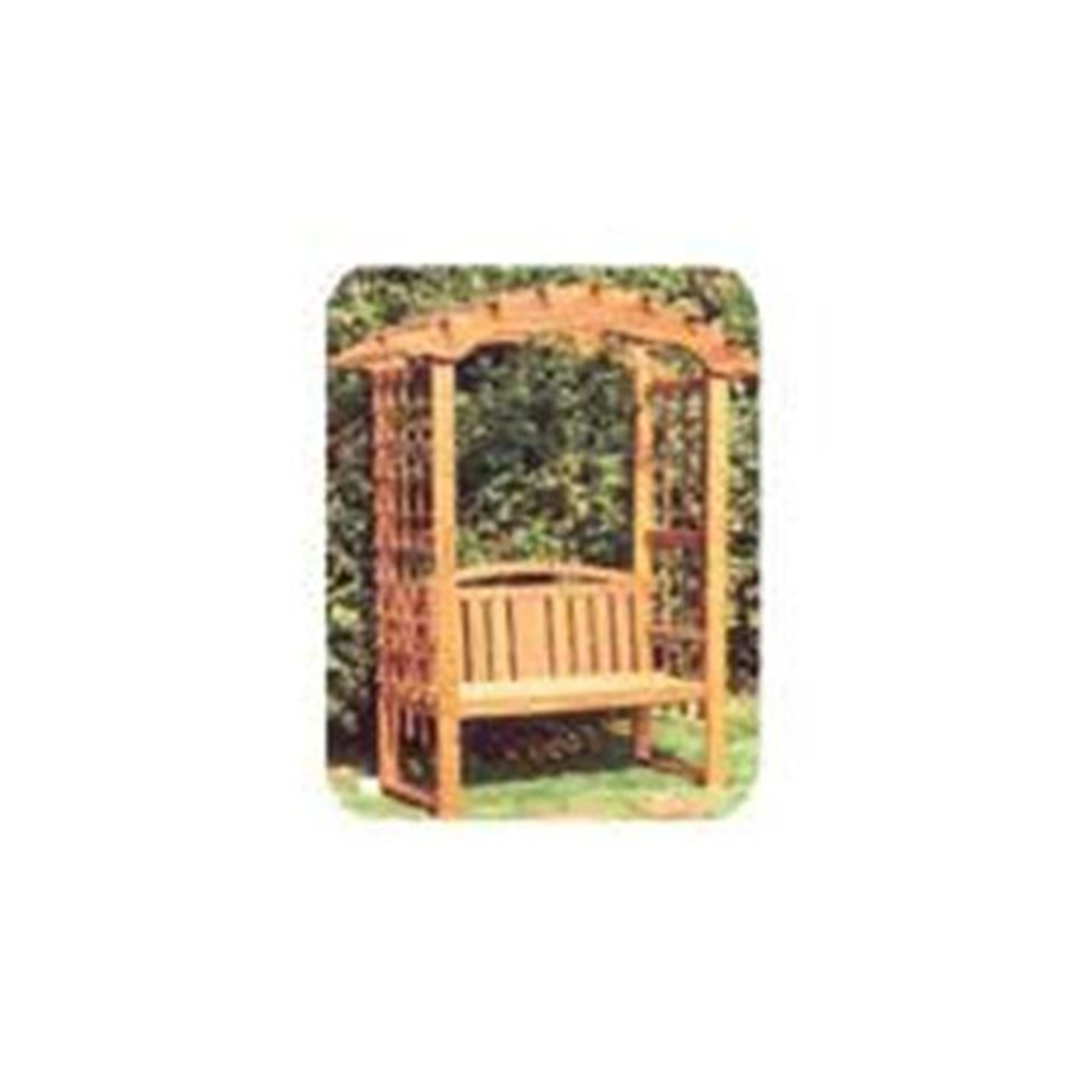 Woodworking Project Paper Plan to Build Arbor with Bench