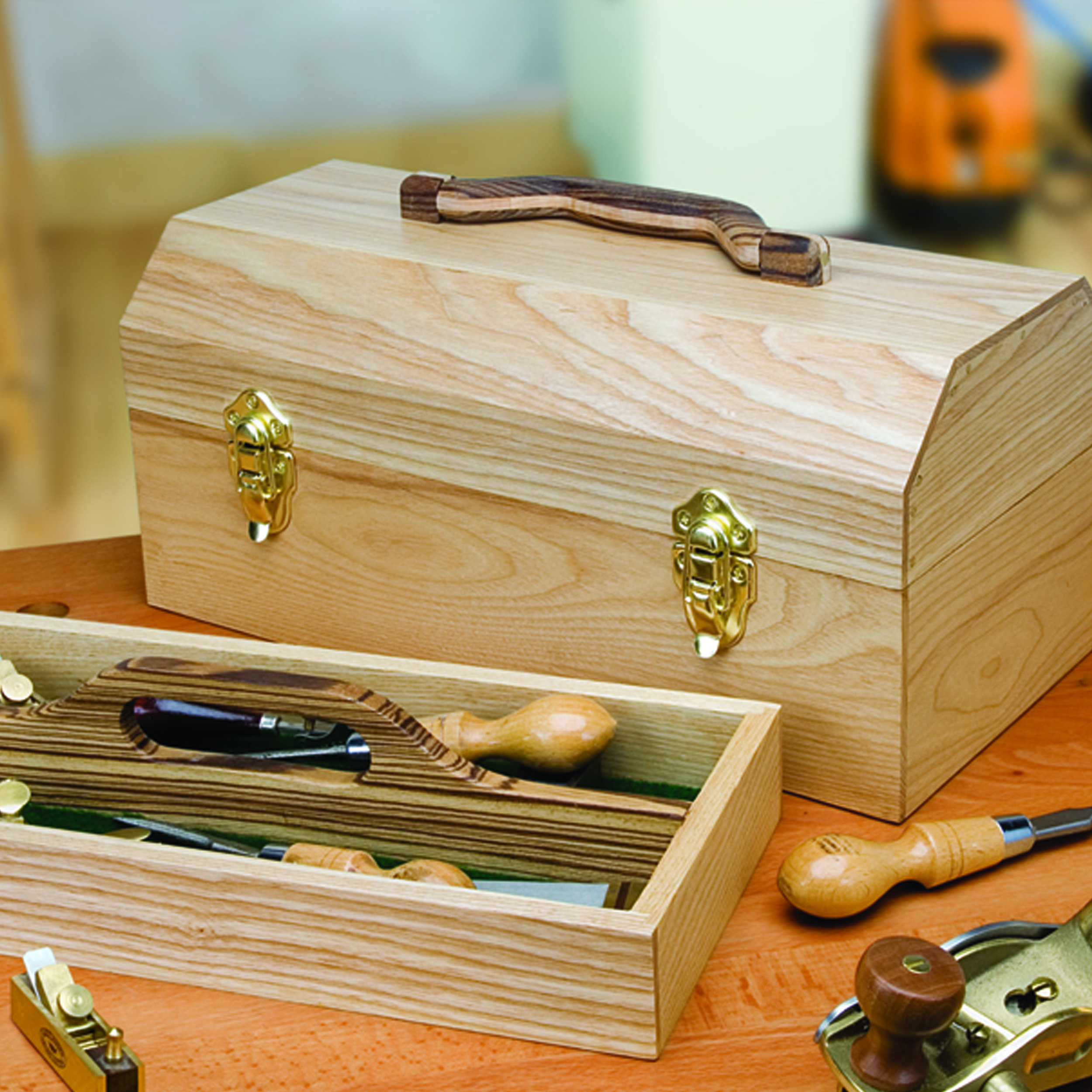 Woodworking Project Paper Plan to Build Craftsman's Toolbox