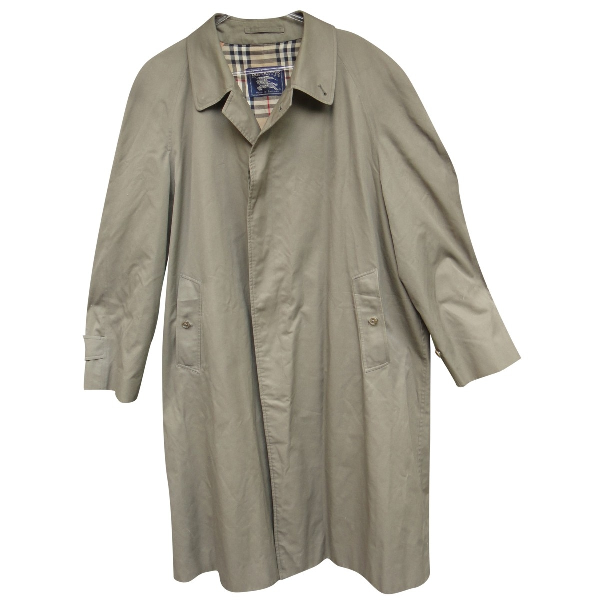 Burberry - Manteau   pour homme en coton - kaki