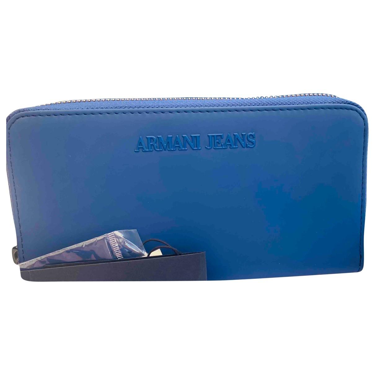 Armani Jeans \N Portemonnaie Blau