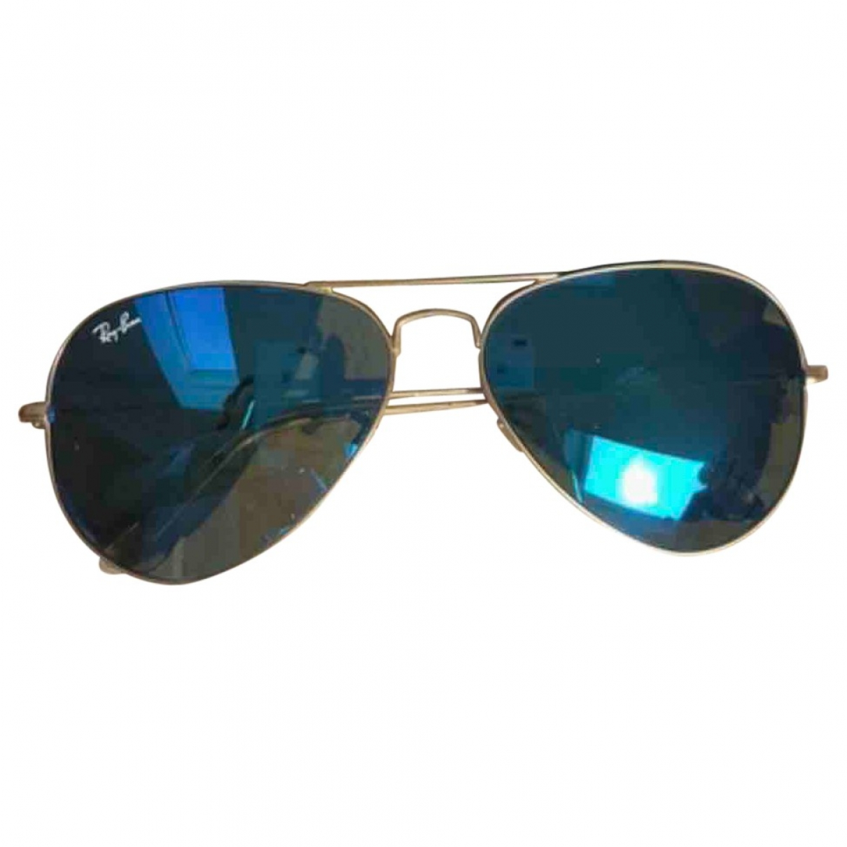 Ray-ban Aviator Blue Metal Sunglasses for Women \N