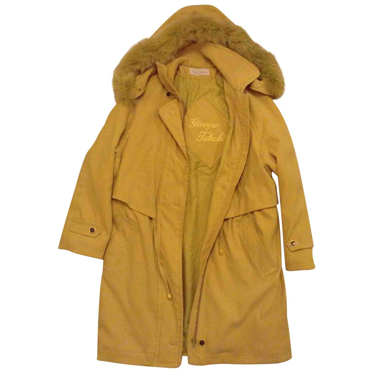 - Manteau   pour femme en coton - jaune
