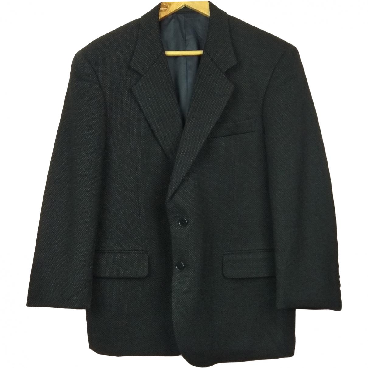 Yves Saint Laurent - Manteau   pour homme en laine - noir