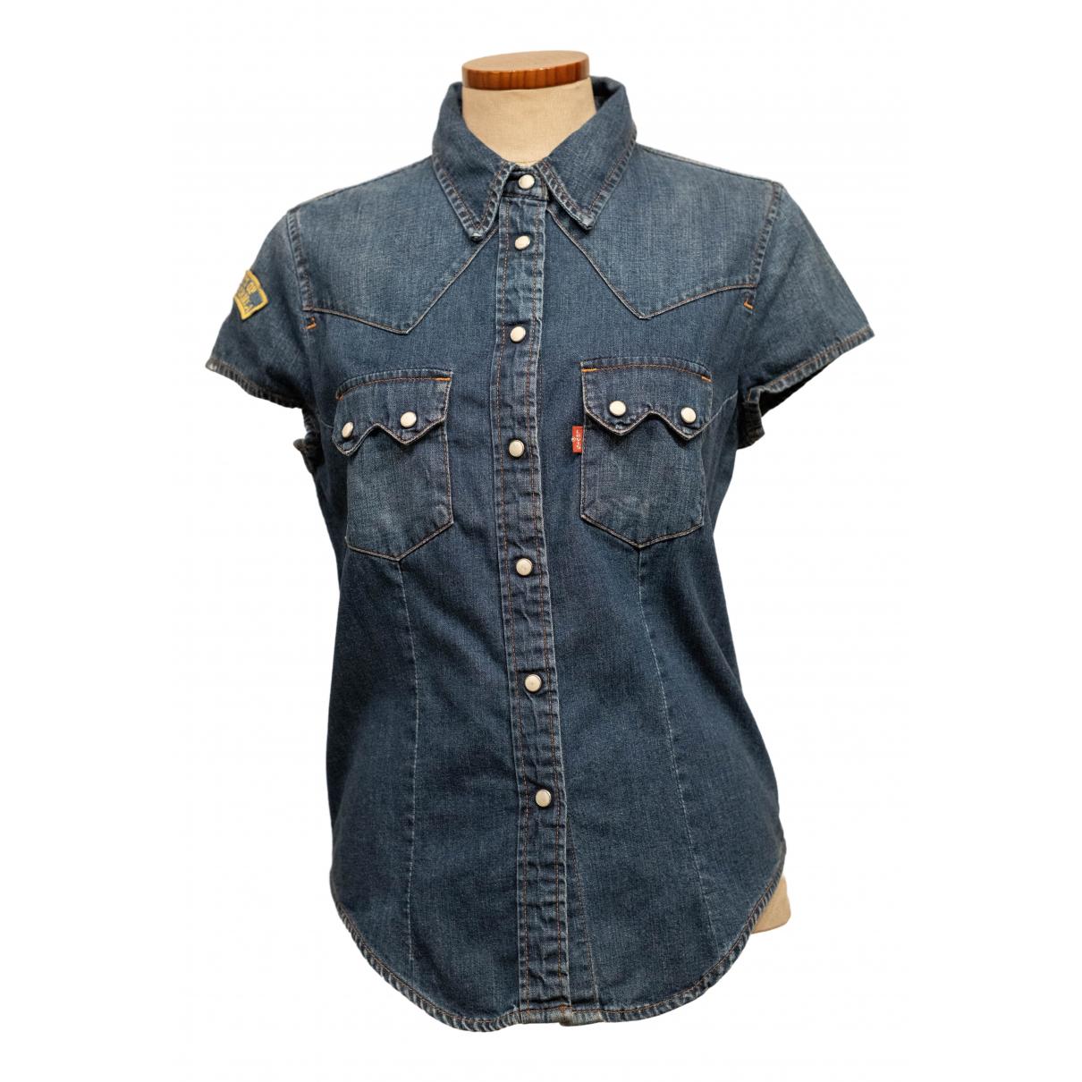 Levis - Blouson   pour femme en coton - bleu