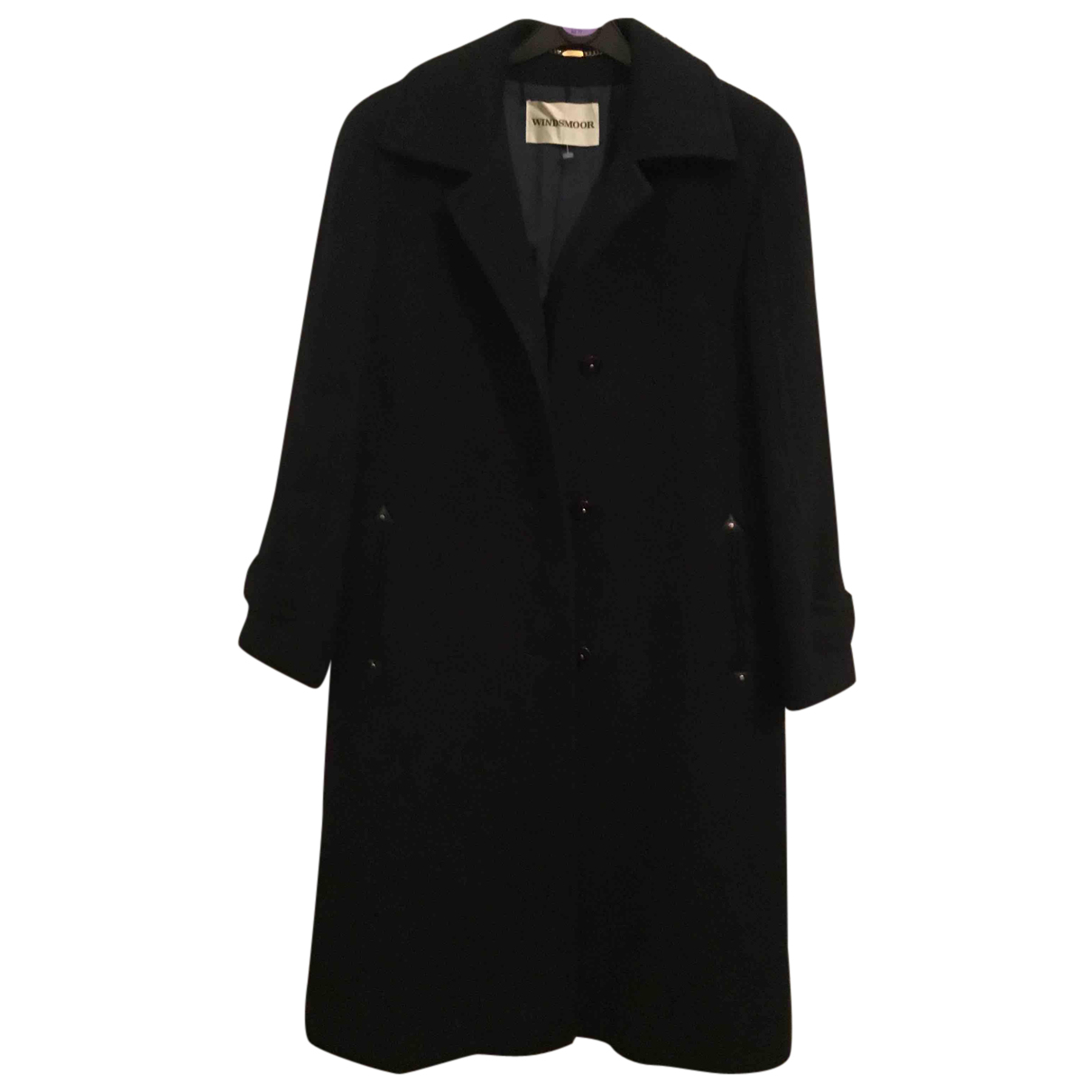 Non Signé / Unsigned N Navy Wool coat for Women 10 UK