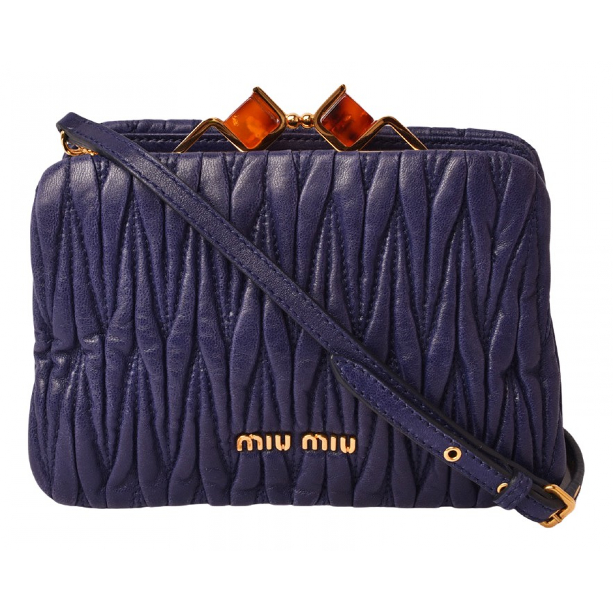 Miu Miu Matelassé Blue Leather handbag for Women N