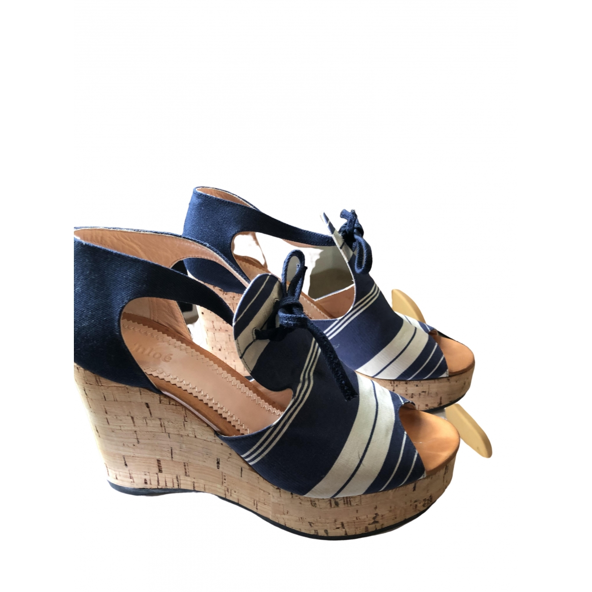 Chloé \N Blue Leather Sandals for Women 39 IT