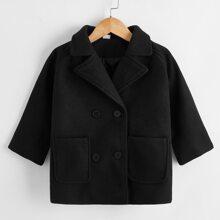 Mantel mit doppelten Taschen und Raglanaermeln