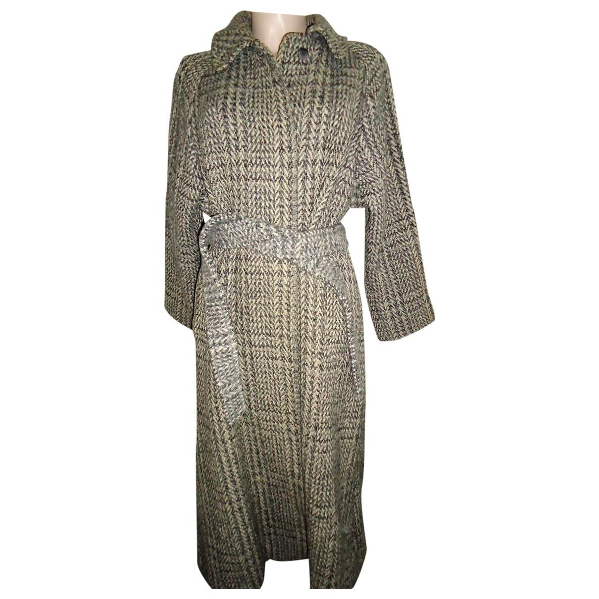 Burberry - Manteau   pour femme en tweed - gris