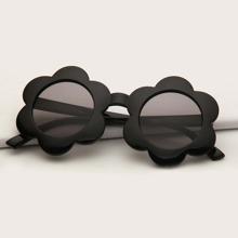 Maedchen Sonnenbrille mit Blumen Rahmen