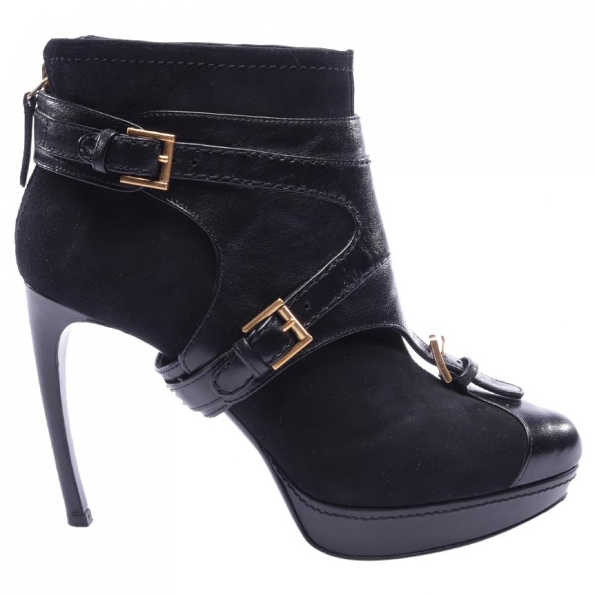 Alexander Mcqueen - Boots   pour femme en caoutchouc - noir