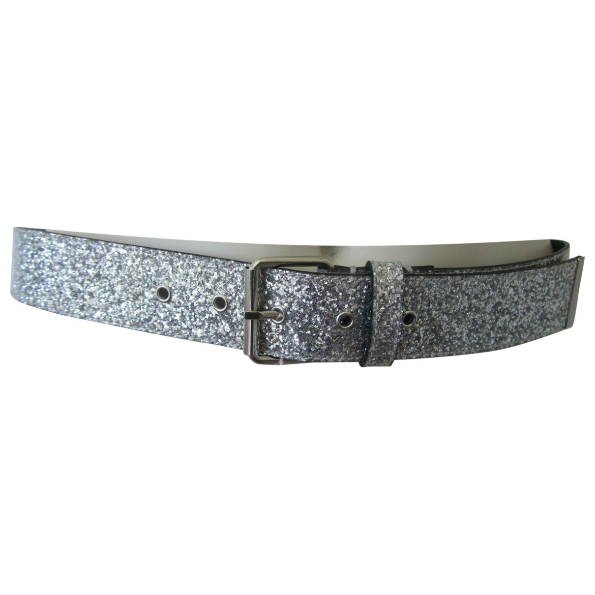 Mm6 \N Guertel in  Silber Mit Pailletten