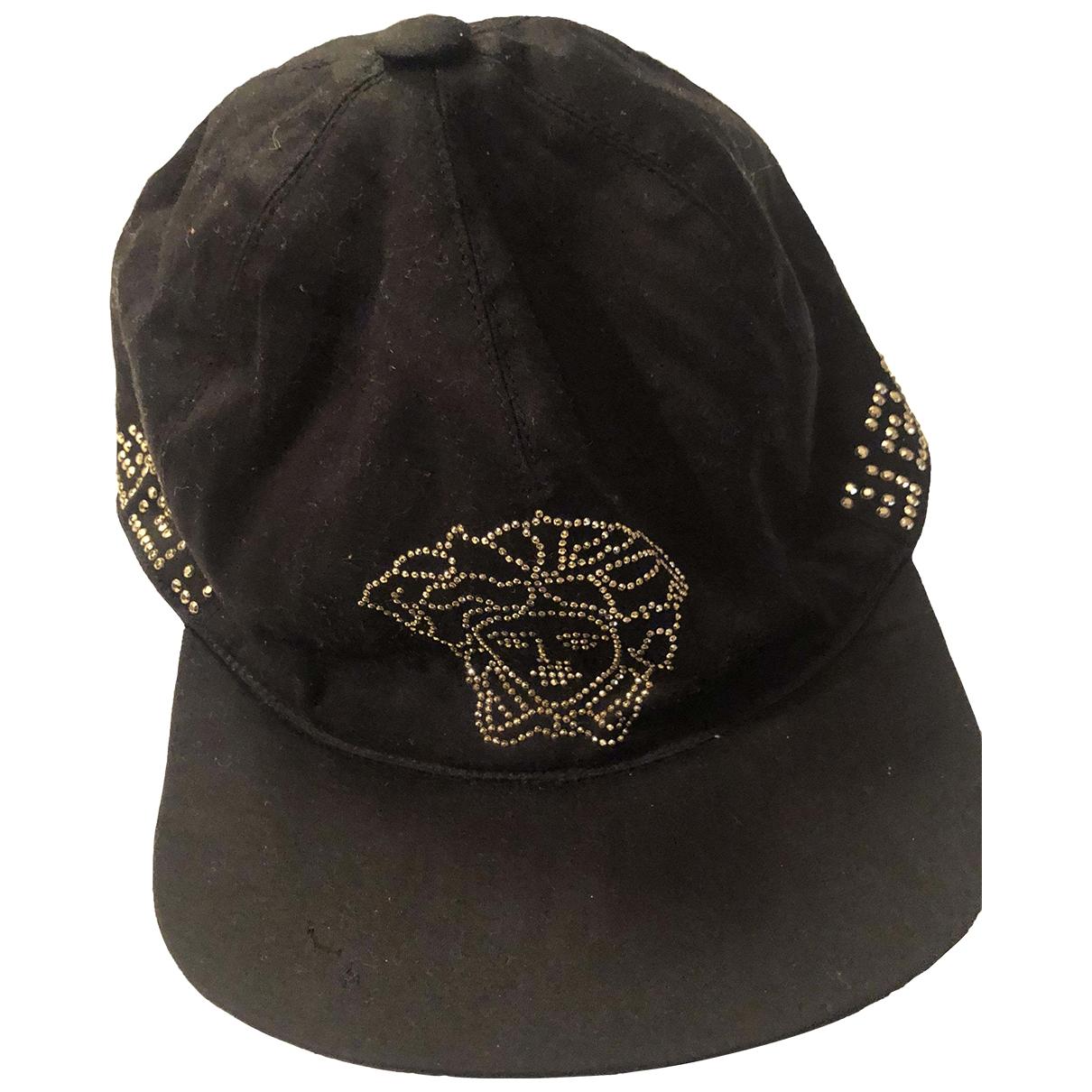 Versace - Chapeau   pour femme en coton - noir