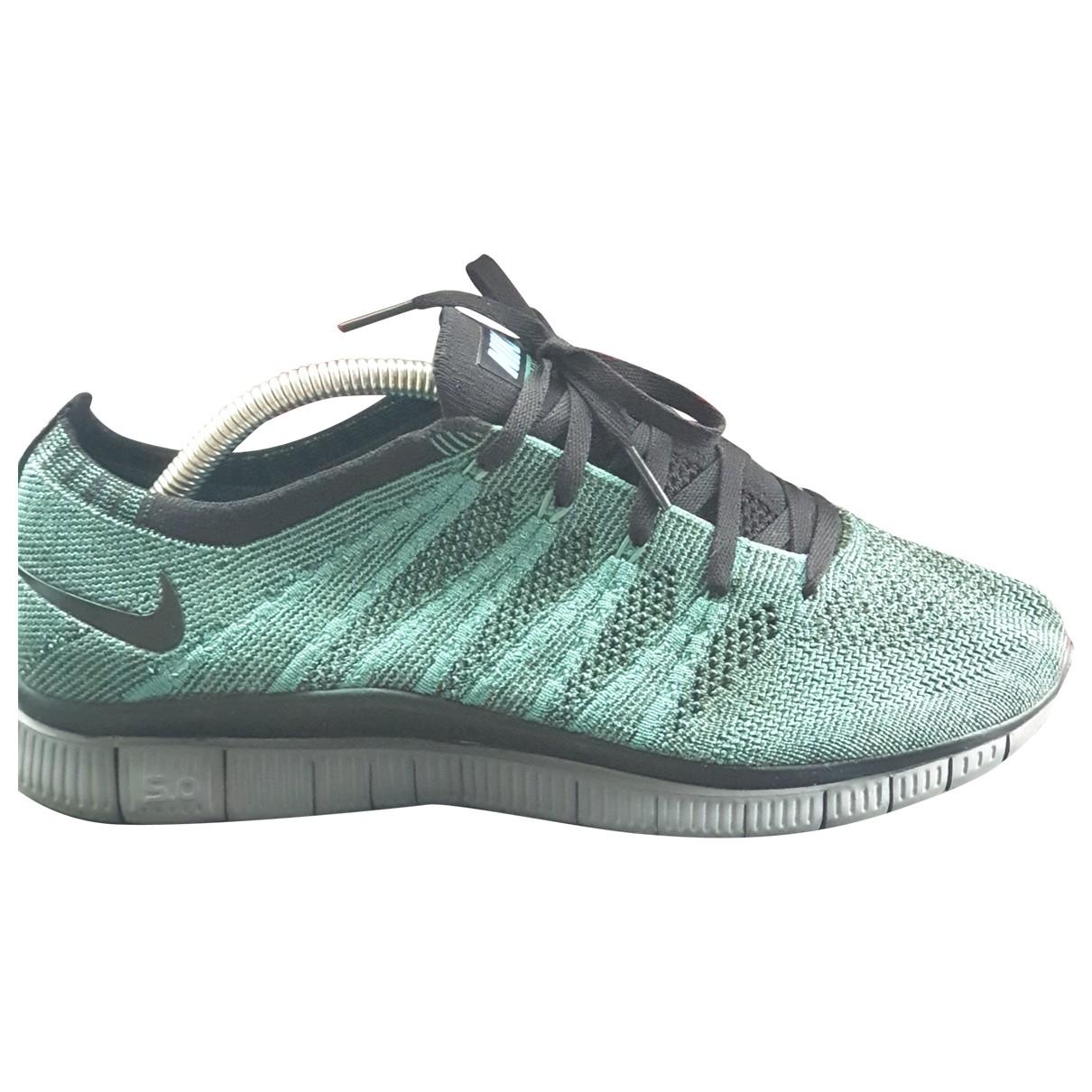Nike Free Run Green Cloth Trainers for Women 41 EU