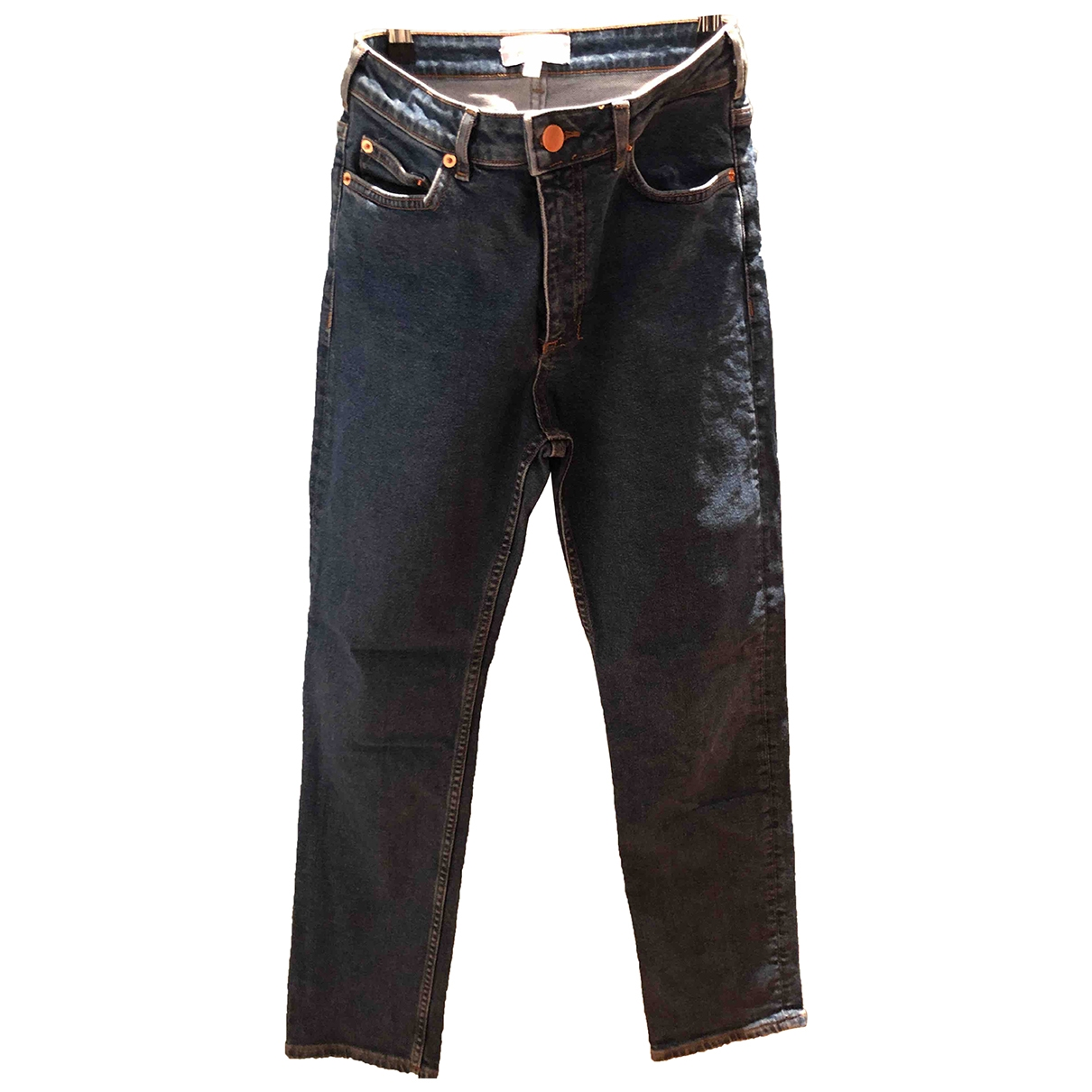 & Stories \N Blue Cotton - elasthane Jeans for Women 27 US