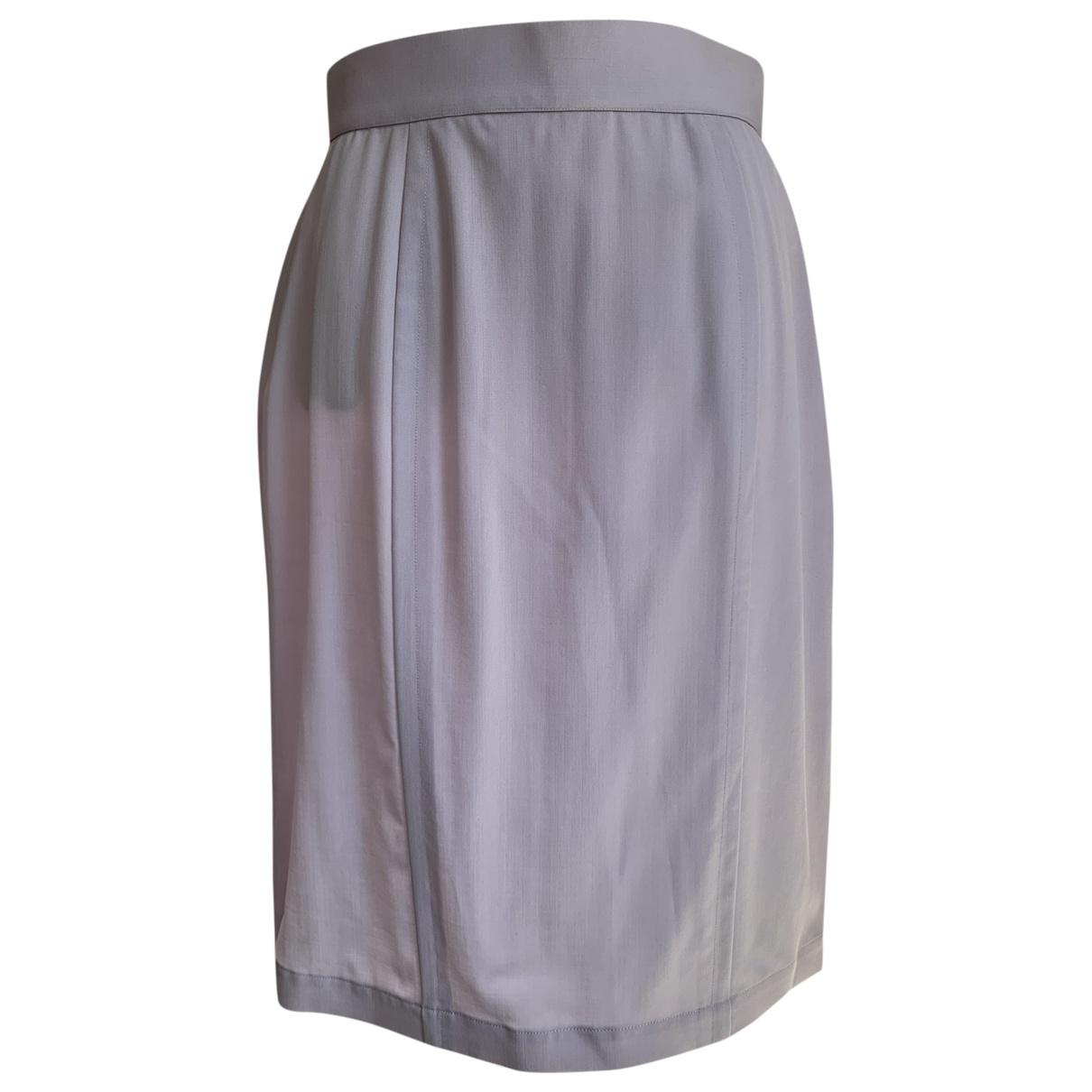 Thierry Mugler - Jupe   pour femme en laine - violet