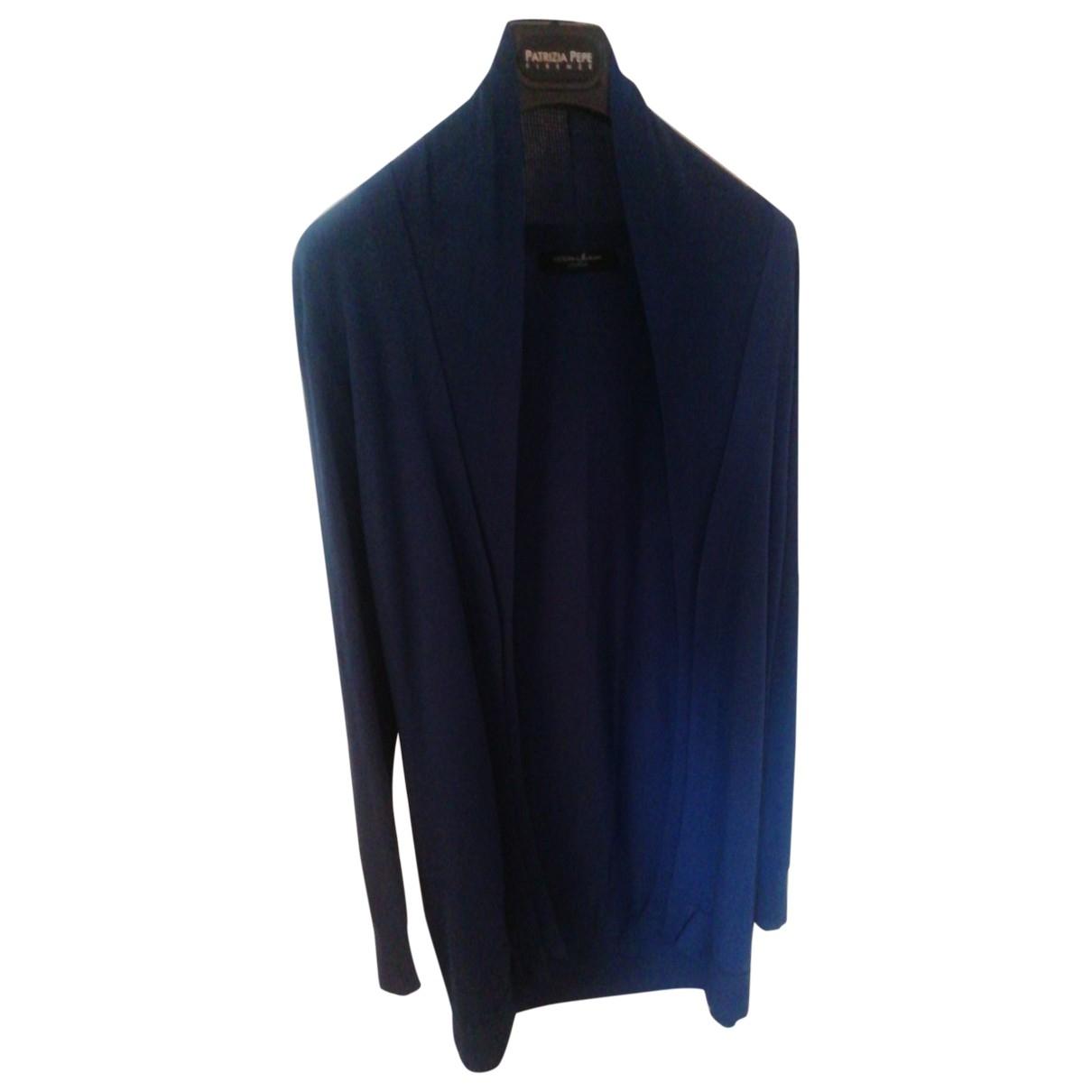 Guess \N Pullover in  Blau Viskose